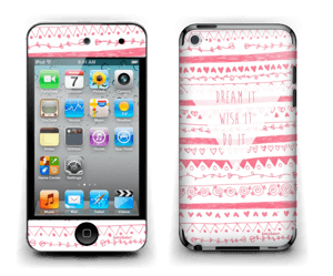 Pink Power Skin IPod Touch 4th Gen