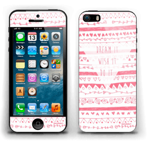 Pink Power Skin IPhone 5s