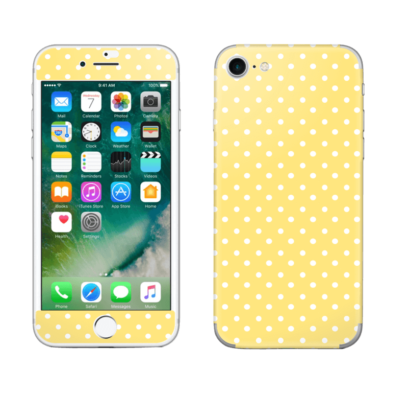 sneakers for cheap 0025f f5cc9 Yellow and white dots - iPhone 7 skin