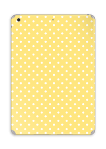 Yellow and white dots skin IPad Air