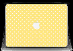 """Yellow and white dots Skin MacBook Pro Retina 13"""" 2015"""