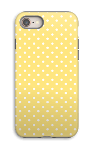 Yellow and white dots case IPhone 8 tough