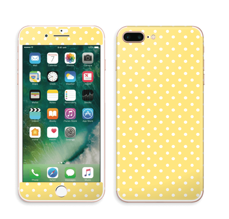 online store 5ba31 3017a Yellow and white dots - iPhone 7 Plus skin