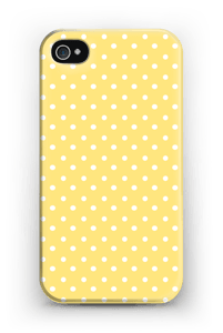 Yellow and white dots case IPhone 4/4s