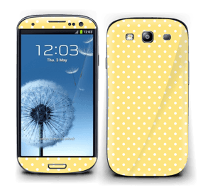 Yellow and white dots Skin Galaxy S3