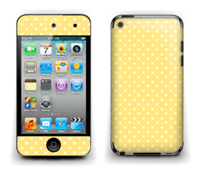 Yellow and white dots Skin IPod Touch 4th Gen
