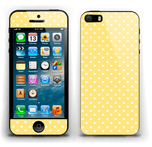 Yellow and white dots Skin IPhone 5s
