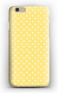 Yellow and white dots case IPhone 6