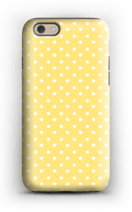 Yellow and white dots case IPhone 6 tough