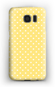 Yellow and white dots case Galaxy S6