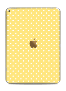 Yellow and white dots Skin IPad Pro 12.9