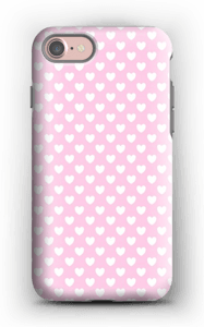 Cute hearts case IPhone 7 tough