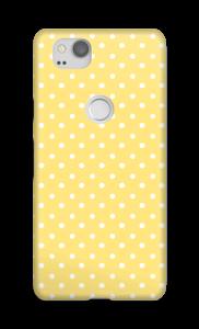 Bolinhas amarelas Capa Pixel 2