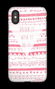Unelmoi ja toteuta kuoret IPhone X tough