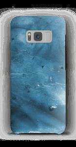 Blau mit Raum für Text Handyhülle Galaxy S8