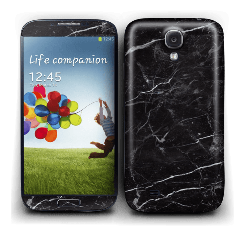 Black marble Skin Galaxy S4