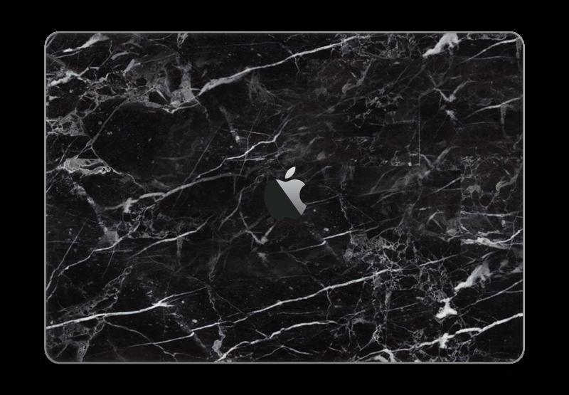 Svart Marmor Skin MacBook Pro Touch Bar 15
