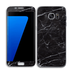 Svart Marmor Skin Galaxy S7 Edge