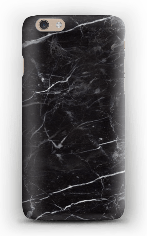 Svart Marmor deksel IPhone 6