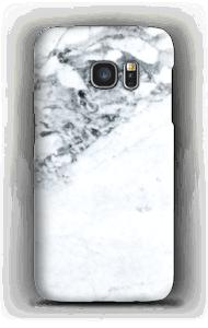 Handyhülle mit weißem Marmor-Look