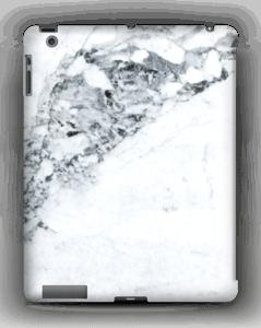 Mustavalkoinen marmori kuoret IPad 4/3/2