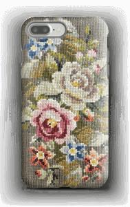 Flores bordadas Capa IPhone 7 Plus tough