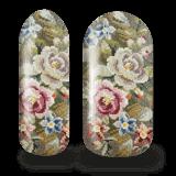 Broderade blommor nail