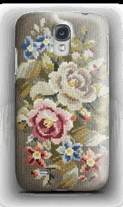 Broderade blommor design skal