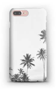 Mustavalkopalmut kuoret IPhone 7 Plus