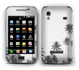 Black and White Tree Tops Skin Galaxy Ace