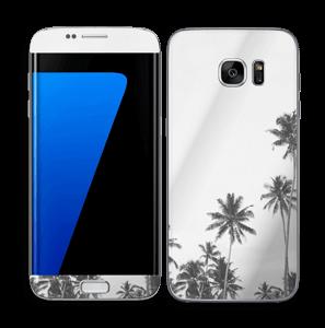 Black and White Tree Tops Skin Galaxy S7 Edge