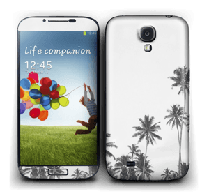 Black and White Tree Tops Skin Galaxy S4
