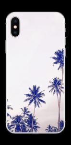 ヤシの木 ブルー スキンシール IPhone X