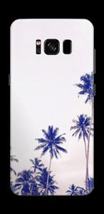 ヤシの木 ブルー スキンシール Galaxy S8