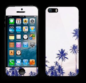 ヤシの木 ブルー スキンシール IPhone 5s