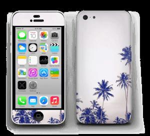 ヤシの木 ブルー スキンシール IPhone 5c