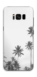 ヤシの木 モノトーン スキンシール Galaxy S8