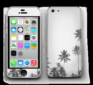 ヤシの木 モノトーン スキンシール IPhone 5c