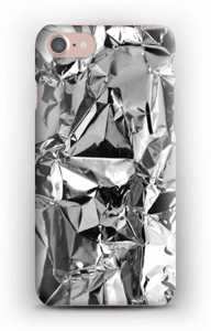 Aluminiumdesign på ett skal för iphone eller samsung