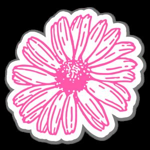 Pink Daisy Aufkleber