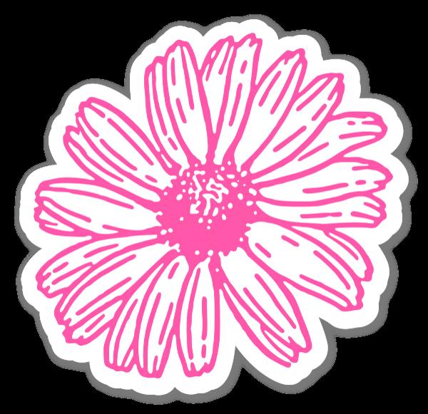 Fiore rosa sticker