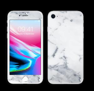 Vit marmor Skin IPhone 8