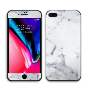 Vit marmor Skin IPhone 8 Plus