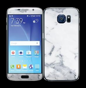 Vit marmor Skin Galaxy S6