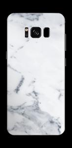ホワイトマーブル スキンシール Galaxy S8