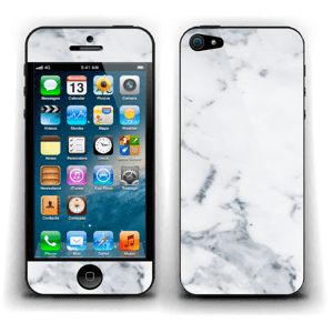 Vit marmor Skin IPhone 5