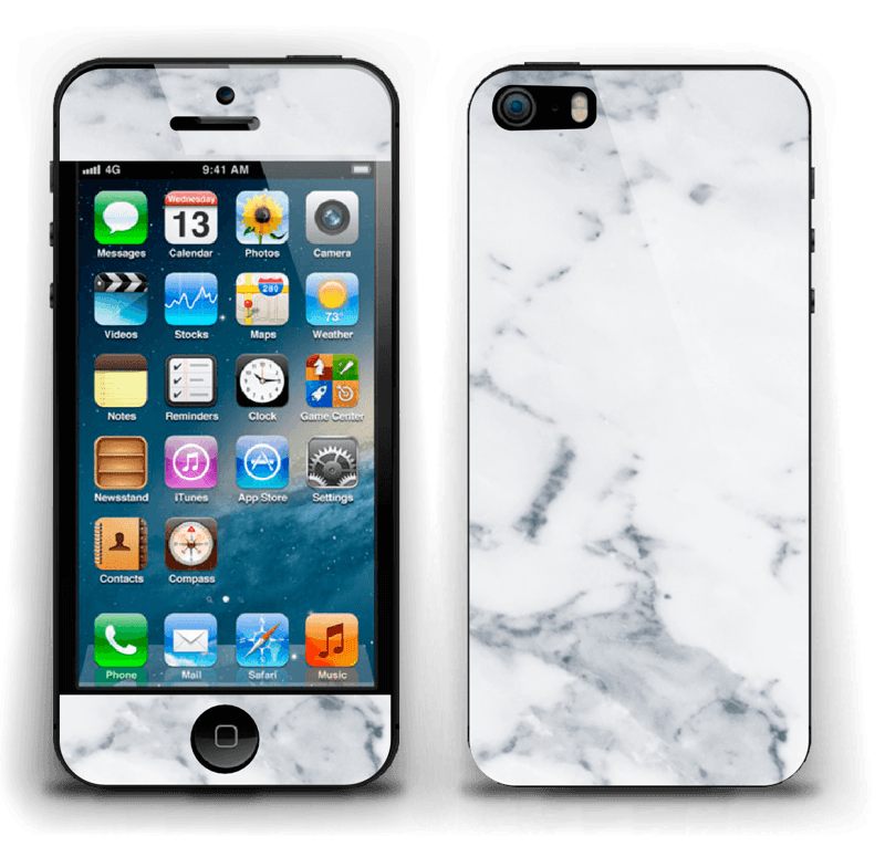Vit marmor Skin IPhone 5s