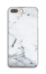 Hvit marmor deksel IPhone 8 Plus
