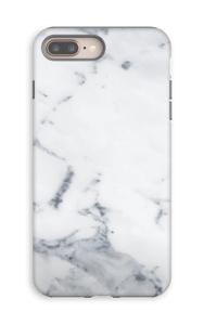 Mármore branco Capa IPhone 8 Plus tough