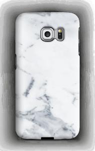 Valkoinen marmori kuoret Galaxy S6 Edge